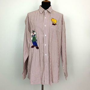 Looney Tunes Red Striped Shirt ACME Clothing L/XL